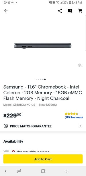 Chromebook samsung laptop for Sale in Hamtramck, MI