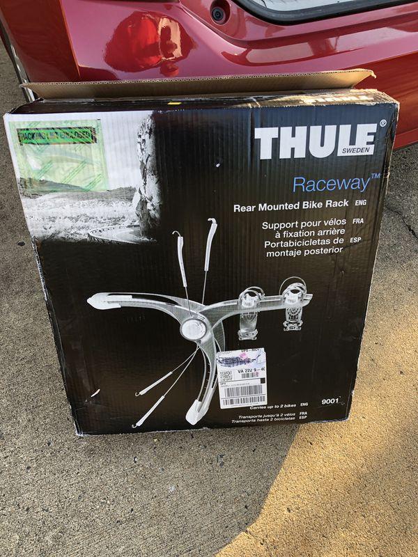 New Open Box Thule Raceway 2-Bike Rack 9001 Made in Sweden MSRP $349