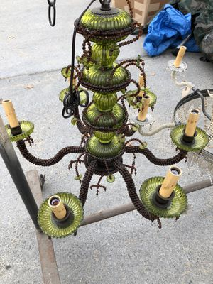 Green chandelier for Sale in Queens, NY