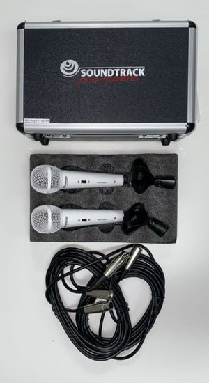 Set of two professional wired microphones. Brand new. Perfect for churches, bands, singers, and Karaoke. for Sale in Miami, FL