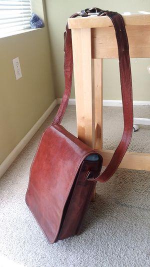 vintage leather satchel messenger bag for Sale in Bellevue, WA