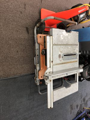 Ridgid Cast Iron Table Saw for Sale in Tampa, FL