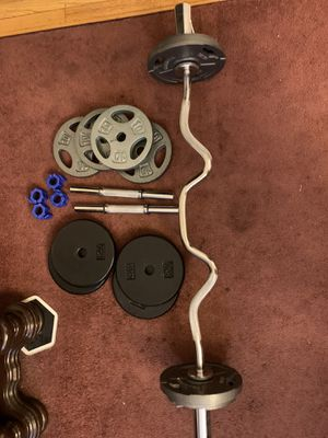 Weights. Barbell and Dumbell set. 120 lbs total for Sale in Los Angeles, CA