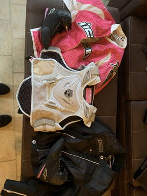 Motorcycle icon jackets, vest, and shoes for Sale in Shartlesville, PA