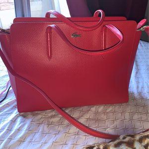 Lacoste Handbag with crossbody attachment for Sale in Littlerock, CA