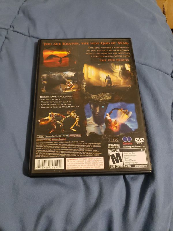 God of War 2 PlayStation 2 Two Disc Set Complete Tested