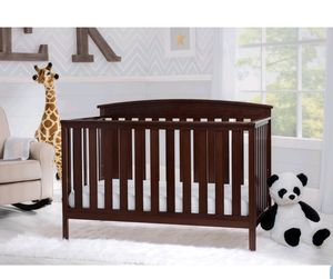 Delta 3 in 1 convertible Crib Dark Brown & Changing Table chest for Sale in Norfolk, VA
