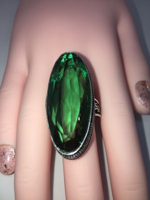 GREEN QUARTZ ANTIQUE DESIGN RING for Sale in Minneola, FL