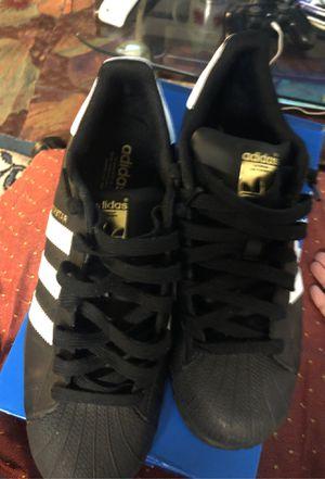 Black Adidas Superstar (Size 9 1/2) OBO PICKUPS for Sale in San Francisco, CA