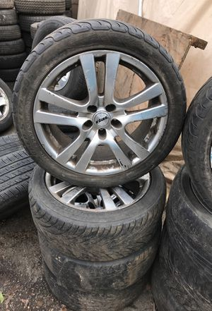 """4 17"""" Rial Wheels / rims alloy 5x4.5 5x114.3 with Tires 225/45/17 for Sale in Portland, OR"""
