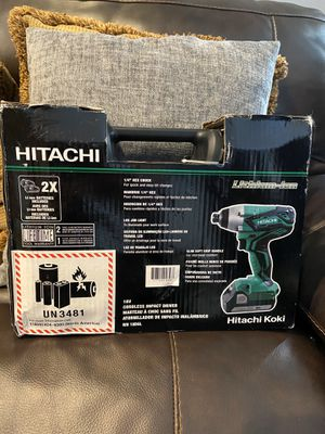 Hitachi Cordless impact driver drill 18V Lithium ion battery for Sale in Miami, FL