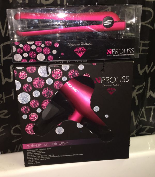 PROLISS Hair Dryer and Straightener