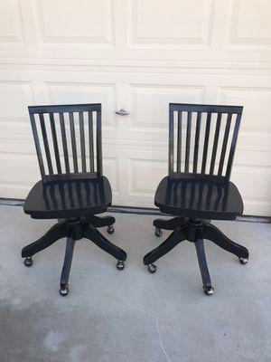 Pottery Barn Black Wooden Swivel Chairs 4 for Sale in Avondale, AZ