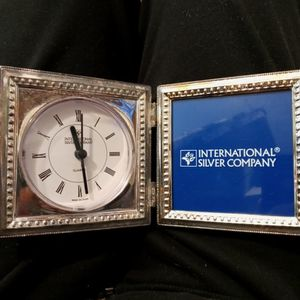 Silver Plated Clock And Picture Desk Clock for Sale in Los Molinos, CA