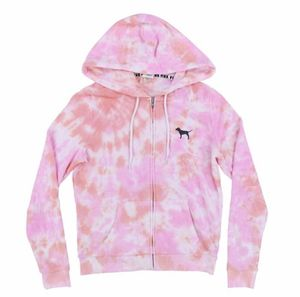 VS pink Hoodie full Zip Tie - Dye Large for Sale in North Olmsted, OH