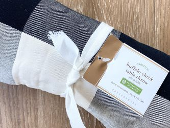 Pottery Barn Buffalo Check Table Throw, New with Tags, Retail $69 for Sale in Alexandria,  VA