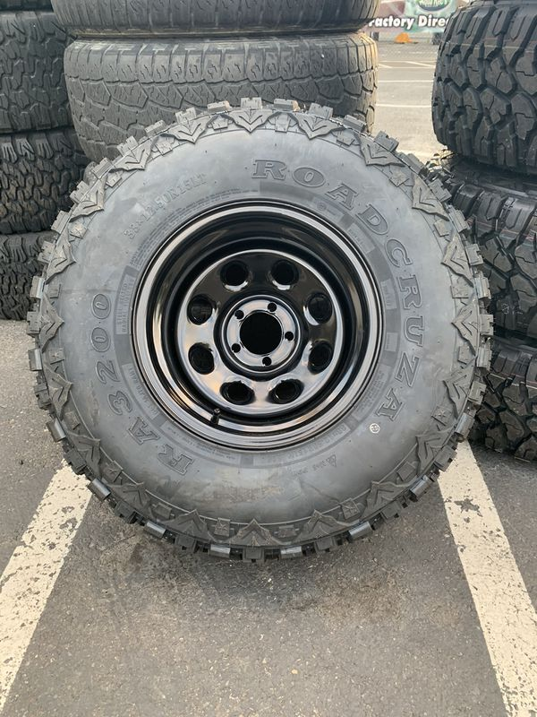Sale!!! 15X10 5-114.3 Jeep Wheels with 33/12.50R15 MT Tires ready for off-roading and Hunting @ SouthHill Tire