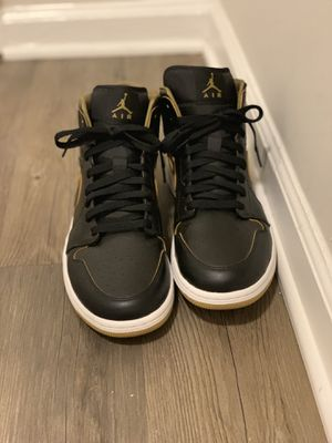 Air Jordan 1 Mid Black Gold for Sale in Atlanta, GA