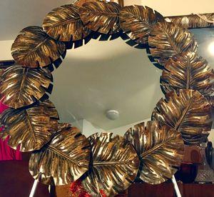 decorative large mirror - impressive metal wall art W 35 inch for Sale in Chandler, AZ