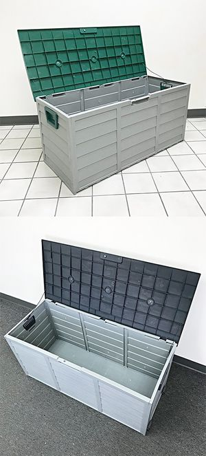 """New $45 each Plastic Storage Box 70 Gallon Outdoor Durable Plastic Shed Waterproof 44""""x19""""x21"""" for Sale in El Monte, CA"""