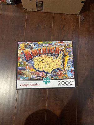 2000 Piece Puzzle Vintage America for Sale in Orange, CA