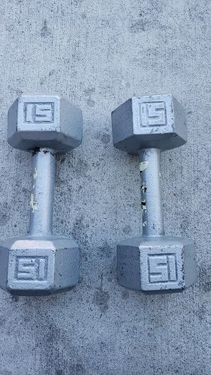 15 lbs dumbbells 2 for $ 20 for Sale in Lakewood, CA