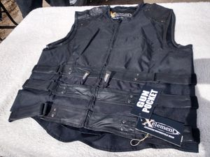 New Xelement mens leather motorcycle vest. Have sizes 2XL and 3XL for Sale in Denver, CO