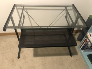 2 piece Glass desks in good condition, great for an office space for Sale in Seattle, WA