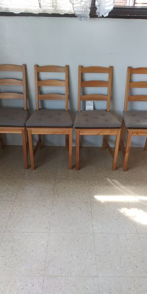 Four WoodenChairs for Sale in Brooklyn, NY