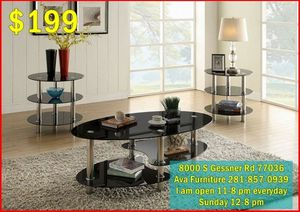 3pc coffee table set $199 for Sale in Houston, TX