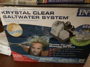 Krystal clear saltwater pool system for Sale in Tampa, FL