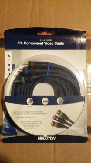 NEW Recoton 6 Foot Gold Plated Video Cable for Sale in Spokane, WA