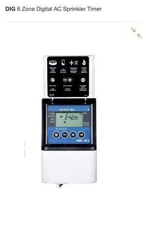 DIG 6 Zone Digital AC Sprinkler Timer for Sale in Scottsdale, AZ