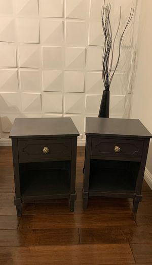 Bed nightstands Pair. Gray. 50 ea for Sale in Los Angeles, CA