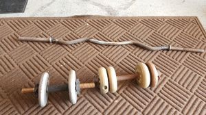 Small weights with curling bar for Sale in New Port Richey, FL