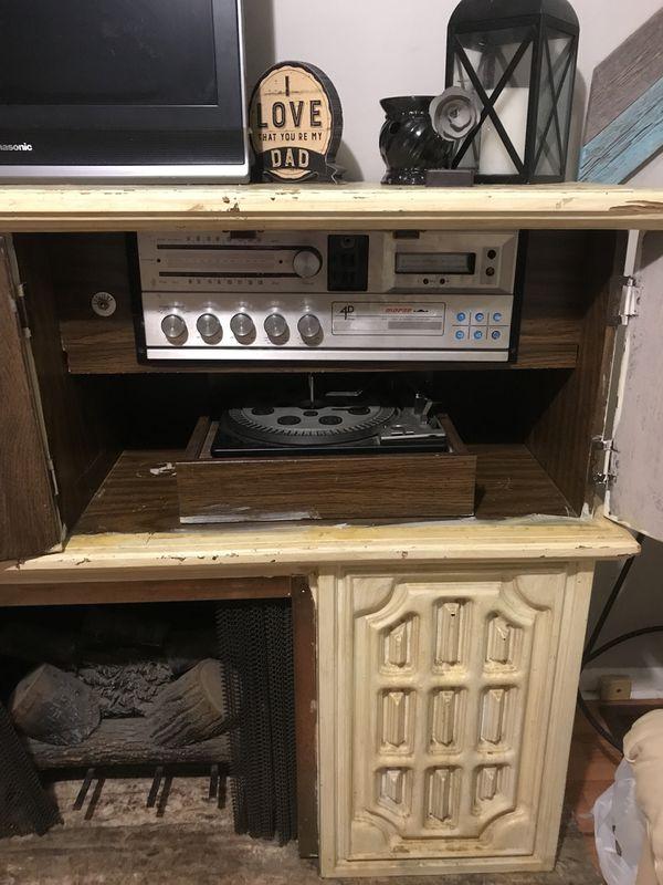 Antique Radio and 8 Track