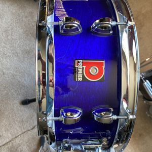 Vintage Premier snare New Strainer, Resonant And Batter Heads for Sale in Anaheim, CA