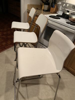 2 wooden and 1 acrylic bar stools $10 each for Sale in Boca Raton, FL