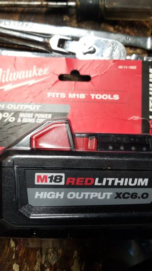 New milwaukee m18 battery xc6.0 for Sale in Lodi, CA