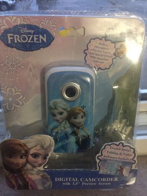 Disney's. Frozen Digital camcorder with 1.5 inch preview screen built-in microphone add special effects with snapshots software for Sale in Medina, OH