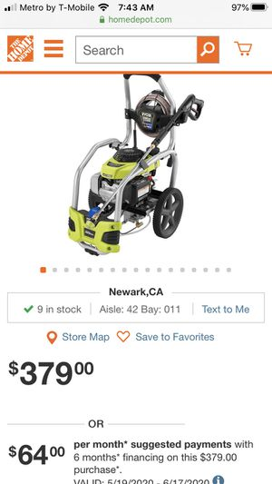 Brand new 3100 Honda ryobi pressure washer for Sale in Fremont, CA