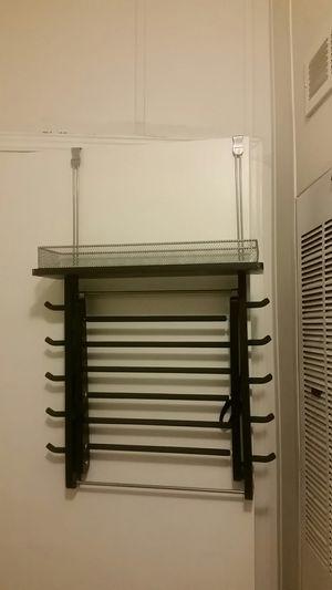 Rubbermaid over the door shelf & hanging rack for Sale in Phoenix, AZ