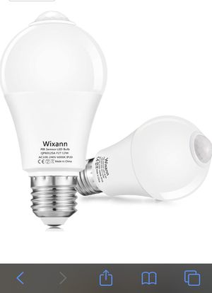 Motion Sensor Light Bulbs,12W(100W Equivalent), Motion Activated Security LED Bulb Lamp Indoor/Outdoor for Garage Front Door Porch Stairs Hallway E26 for Sale in Portland, OR