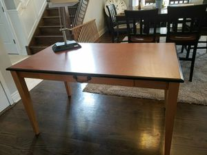 LARGE WOODEN DESK ONE DRAWER for Sale in Westchester, IL