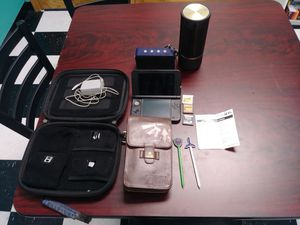 Nintendo 3DS bundle pack with two portable speakers and a RCA tablet for Sale in Arma, KS