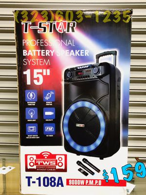 2 Wireless 🎤 Included • 9,000 Watts* BLUETOOTH Party Speaker • Loud • BASS • TWS NEW MODEL 💥 Mucho Party for Sale in Long Beach, CA