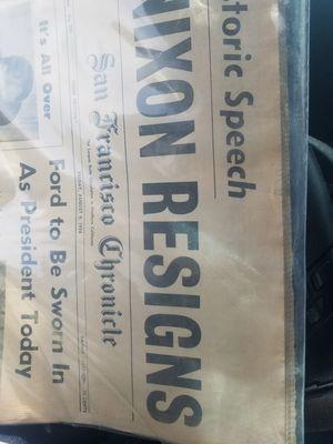 1974 original mint condition news paper nixon related for Sale in Modesto, CA