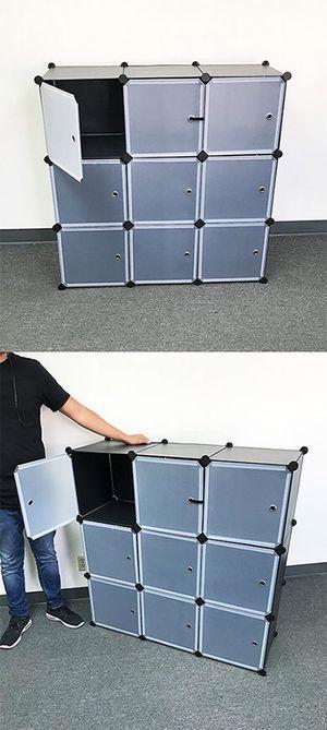 "(New in box) $35 Plastic Storage 9-Cube DYI Shelf with Door Clothing Wardobe 43""x14""x43"" for Sale in Whittier, CA"
