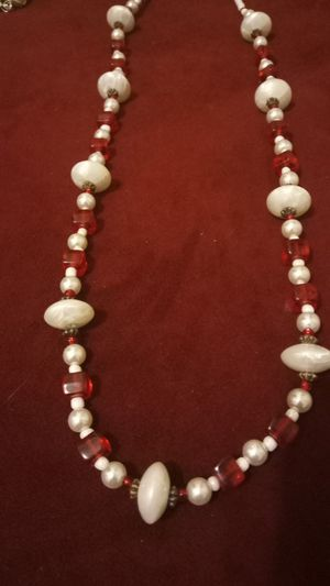Red homemade necklace made for the hoildays for Sale in Colton, CA