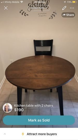 Small kitchen table with 2 chairs for Sale in Hamilton Township, NJ